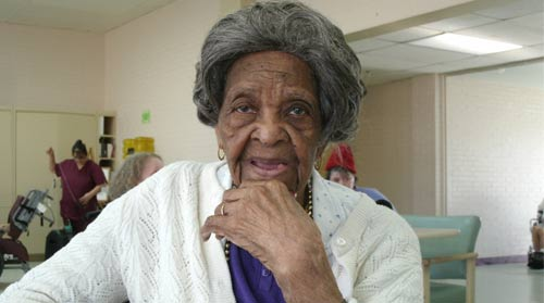 Former nurse Ollie Burton, shown last year at age 103 at the Kissito Healthcare's nursing home in Midland, Tex., represents the longevity exception.