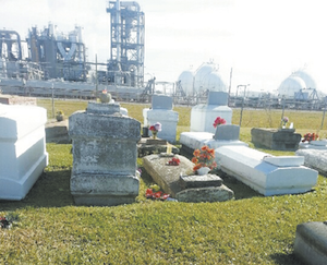 Revilletown Cemetery within the Georgia Gulf plant in Plaquemines in Iberville Parish. Photo courtesy of Marla Dickerson