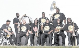 The Hot 8 Brass Band members