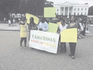 African immigrants rally in front of the White House on April 3 to support keeping the Diversity Visa. Roughly 25,000 Africans come to the US each year through the program. Photo by Cameroon American Council