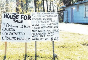 Sign in front of a Mossville home for sale. Photos courtesy of MEAN