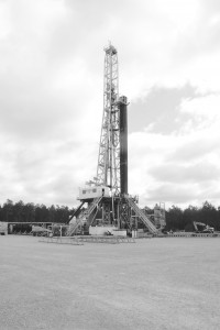 A rig drilling Encana's Weyerhaeuser 73H-1 well in St. Helena Parish. Courtesy of Encana Oil & Gas USA.