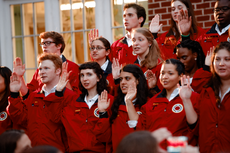 Forty-two young adults recently pledged to work with area students who are struggling academically | Photo courtesy of City Year