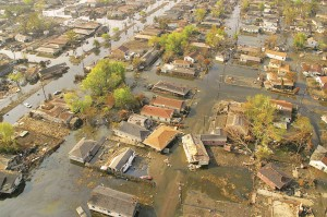 Flooding in the Lower Ninth Ward during Hurricane Katrina was blamed on the MRGO channel, which was closed in 2009.