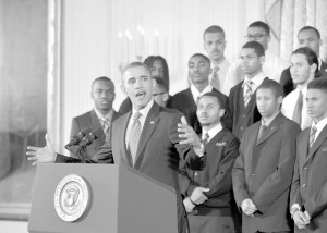 President Obama outlines plan to uplift Black and Latino boys. (NNPA Photo by Freddie Allen).