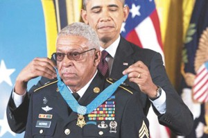 Former Staff Sgt. Melvin Morris was a U.S. Army Green Beret. President Barack Obama has awarded him the Medal of Honor for valor in Vietnam. White House photo