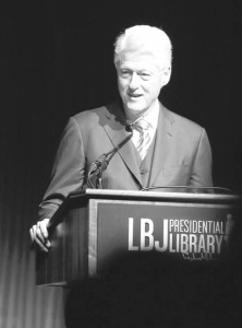 Clinton Photo by Jack Plunkett/LBJ Foundation.