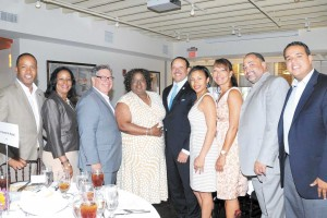 Attending the Louis A. Martinet Legal Society's luncheon this month, were from left to right: Kenneth Polite, U.S. Attorney for the Eastern District of Louisiana; Councilwoman Nadine Ramsey, Judge Roland Belsome, Louisiana Fourth Circuit Court of Appeal; La. State Supreme Court Chief Justice Bernette Johnson, Marc Morial, president and CEO of the National Urban League; Erika McConduit-Diggs, president and CEO of Urban League of Greater New Orleans; and First City Court Judge Monique Morial.