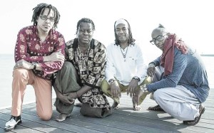 Members of the New AfroCuban Quartet, from left to right, Leandro Saint-Hill, Childo Tomas and Ernesto Simpson with Omar Sosa