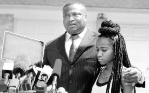 16-year-old African American female rape victim who identifies herself as Jada during a press conference.