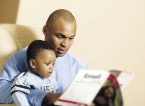 By most measures, black fathers have proven to be just as involved with their children as other dads in similar living conditions — or more so — according to the latest study released in July by the Centers for Disease Control and Prevention's National Center for Health Statistics in Atlanta.  (Photo courtesy of blackbluedog.com)