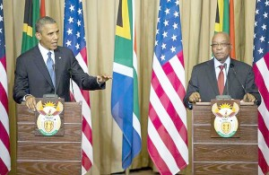 President Barack Obama last year with President Jacob Zuma of South Africa. Leaders of 45 African countries will meet in Washington, D.C., beginning August 4.