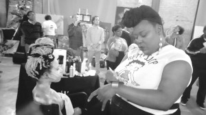 Niala Howard from Magnolia make-up - body painting at the Power House grand opening. Photo courtesy Ashé Cultural Arts Center