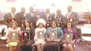 Pictured, from left to right, front row: First Lady Margie Zeno; Jefferson Superintendent Michele Blouin-Williams; Librarian Doris Pitts; Honorable Chief Justice Bernette Joshua Johnson; and Honorable Chief Judge June Berry Darensburg; standing: Gretna Councilman, Leo Jones; Pastor Donald R. Jones; Attorney Kyle Mark Green; Pastor M.C. Zeno; Jefferson School Board President Cedric Floyd; Westwego Councilman Glenn Green; and Honorable Marc Johnson.