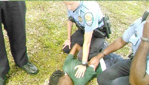 A white police officer subdues a 10-year-old Black student with autism in Jefferson Parrish, Louisiana, after she had an outburst in class.