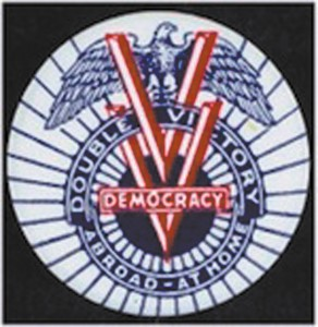 Double V campaign symbol created by the historic Philadelphia Inquirer.