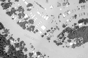 Aerial photo of the flooding along the Amite River in Louisiana via NASA