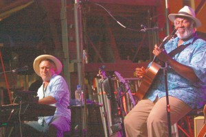JON CLEARY, left, and TAJ MAHAL, right