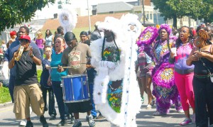 Participants in a recent Indian Super Sunday parade