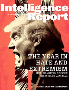 The cover of the recently released Spring issue of the Southern Poverty Law Center.