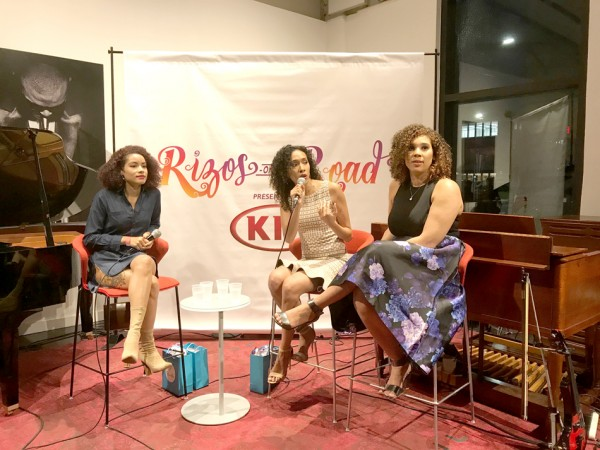 Devri Velázquez, Rocio Mora and Ada Rojas discuss the Afro-Latina Experience at the recently held event RisasRizos