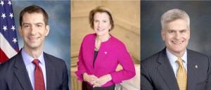 From left to right, Tom Cotton of Arkansas, Shelley Moore Capito of West Virginia and Bill  Cassidy of Louisiana are among the U.S. senators considered crucial to blocking efforts to repeal the Affordable Care Act.
