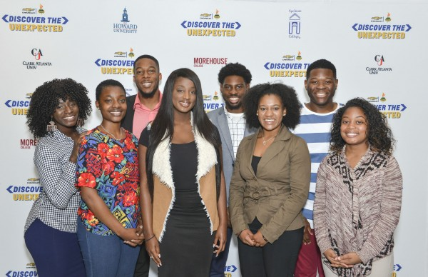 "The 2017 NNPA ""Discover The Unexpected Journalism Fellows (from left-right): Noni Marshall, Alexa Spencer, Darrell Williams, Tiana Hunt, Ayron Lewallen, Taylor Burris, Jordan Fisher and Kelsey Jones. (Photo courtesy of Freddie Allen/NNPA)"