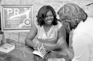 Nayita Wilson, author of PR That PRopels: A Strategic Guide for Winning Public Strategies, at a recent book signing.