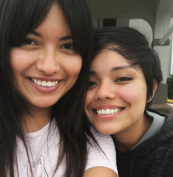 Valeria (left) and her sister, Miriam (right), arrived in the United States from Mexico with their mother in 2000 when Valeria was 7 years old. Both sisters currently have DACA status.