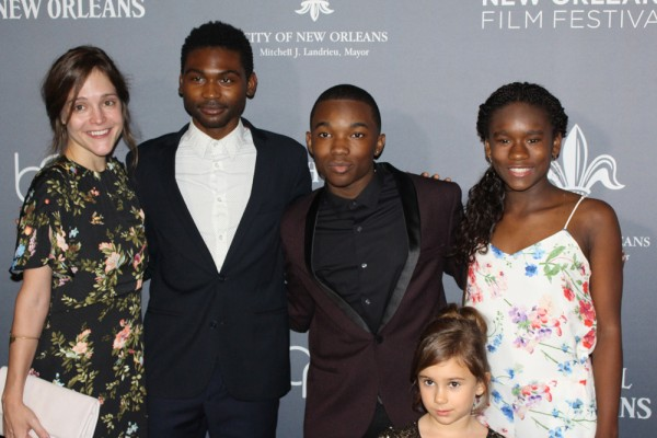 Members of the cast of Mudbound walked the red carpet during the film's premiere during New Orleans Film Festival on Saturday, October 14. From left: Carey Mulligan, Jason Mitchell, Joshua J. Williams, Piper Blair and Kennedy Derision. Photo by Tyra Johnson.