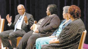 Surviving members of the Little Rock Nine, who integrated an all-white Central High School in Little Rock, Ark., 60 years ago, reflect on their courageous act at the National Museum of African American History and Culture on Sept. 26.