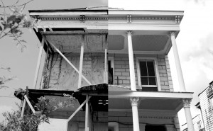 Above is the before and after snapshot of the former Straight University Boarding House and Dining Hall, buitl between 1866 and 1871, located at 1424 N. Claiborne Avenue. The historic building was restored by the Preservation Resource Center using Historic Tax Credits that are on the chopping block under the proposed GOP tax plan. It was the last remaining building associated with Straight, one of the first African-American universities in the state of Louisiana.