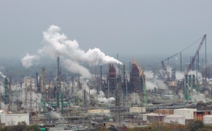 A view of the ExxonMobil refinery in Baton Rouge from the La. State Capitol.