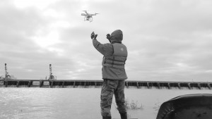 The Army Corps used a drone to monitor the Bonnet Carre Spillway in ithe 2016 flood