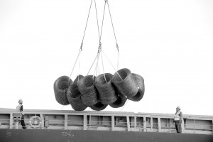 Steel coils handled at Port NOLA.