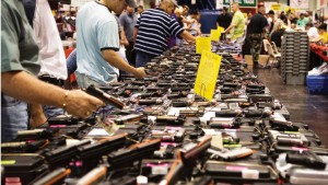 Guns for sale at a show in Louisiana